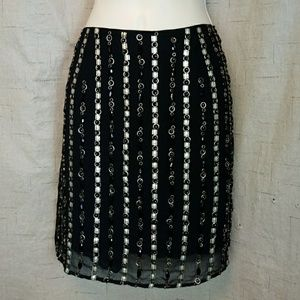 Romeo & Juliet Couture Beaded Embellished Skirt